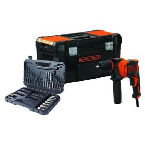 Set BEH710KA80 black & decker UDARNA BUŠILICA SA PRIBOROM i kutijom za alat 3 u 1 SUPER AKCIJA