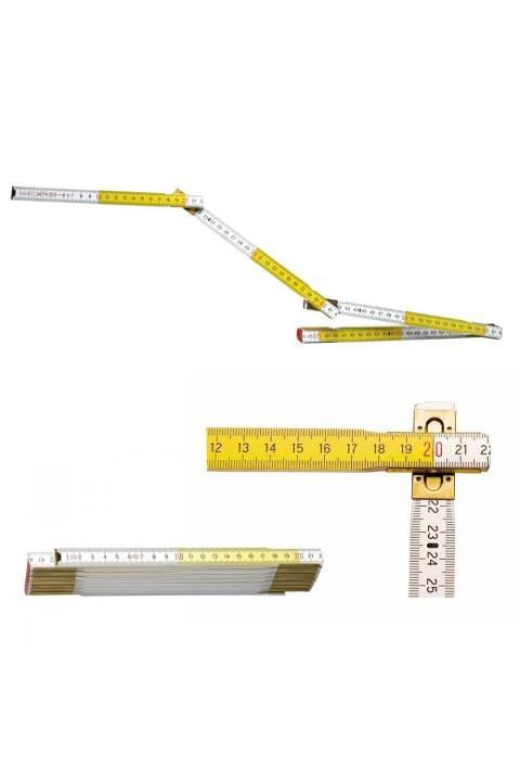 AKCIJA STANLEY DRVENI SKLOPIVI METAR, 2 m 17 mm BIJELO ŽUTI   0-35-458
