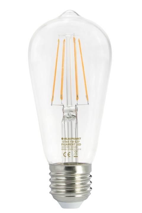 Blaupunkt led žarulja ST64 1C-L LED FILAMENT 7W 806lm E27 2700K