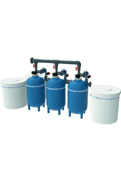 JUDO JM-DX 1000 - 2000 T JUDOMAT-DX Triplex sustav omekšavanja vode (kontrola količine) JUDO JM-DX 1000 - 2000 T JUDOMAT-DX Triplex-Enthärtungsanlage (mengengesteuert)