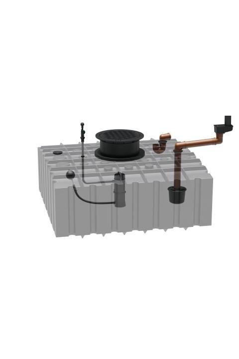 AKCIJA Marley sustav za kuću s ravanim spremnikom za kišnicu od 2000 litara 335100